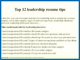 Leadership Skills Resume Best Leadership Skills Resume Examples Top 60 Leadership Resume Tips 60