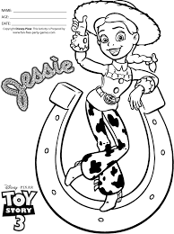 The new home for your favorites. Toy Story 3 Coloring Pages Jessie The Cowgirl In Horseshoe Tipping Her Hat In 2021 Toy Story Coloring Pages Disney Coloring Pages Coloring Pages