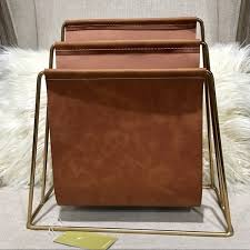 Brown Leather Magazine Holder Extraordinary Tommy Bahama Other Leather Magazine Holder Organizer Poshmark