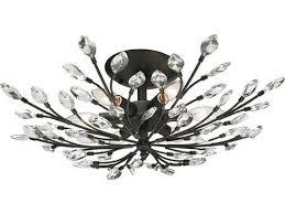 elk lighting crystal branches burnt bronze six light 24 wide semi flush