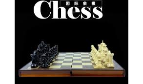 Wooden Board Game Sets Free shipping Book shape High Quality Wooden International Chess 76
