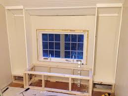 how to build built in shelves around a window round designs