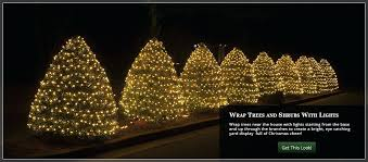 wrap bushes and shrubs with lights outdoor light up tree fixture decorations yard decorating led outdoor tree