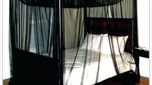 Canopy Bed Full Size Exotic Blackout Curtains Girls Set – delser