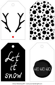 Modern Chic Holiday Gift Tag Printable :: Free - yourmarketingbff.com