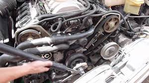 replace a8 d2 water pump out timing belt