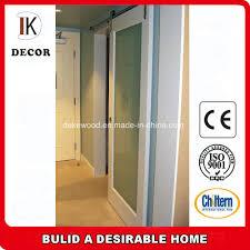 china full glass panel solid wood stile sliding shower barn door china sliding door wood flush door