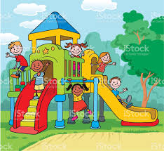 children playing on playground stock vector art more images of clipart