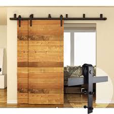 4ft 16ft black byp country sliding barn double wood door hardware closet kit home garden home improvement building hardware ebay