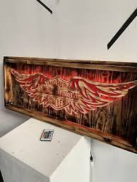 harley davidson rustic wall art 75