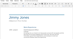 Google Docs Resume Builder Resume