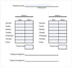 Bi Weekly Time Card 10 Free Printable Bi Weekly Time Sheets Supplyletter Website