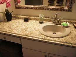 image of diy bathroom countertop replacement