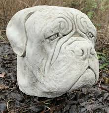stone garden large dog dogue de