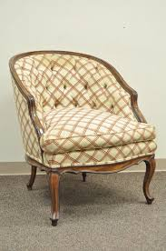american vintage country french louis xv style barrel back bergere lounge chair ottoman for