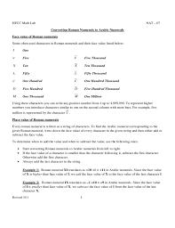 Roman Numerals Conversion Chart Roman Numeral Conversion Practice Chart Free Download