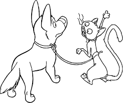 Small Picture Bolt Dog Cat Coloring Pages Wecoloringpage