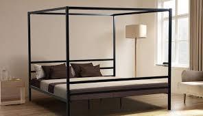 zinus plans fascinating frame queen platform king wood curtains metal four poster diy bedrooms astounding canopy