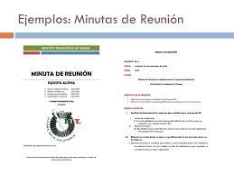 Ejemplos De Minutas De Reunion Magdalene Project Org