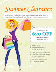 marketing flyer templates in word for any business summer clearance clothing