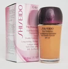 shiseido the makeup dual balancing foundation spf17 pa 30ml 1fl oz o80 deep