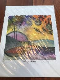 """Cheryl Summers Limited Edition Print Mystery Island 35/200 Signed 9""""x12""""  (BL) 