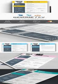 Clean Resume Template Illustrator Fresh Resume Template 5 Pages Cv ...