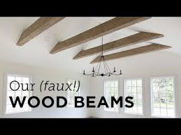 our new faux wood beams install