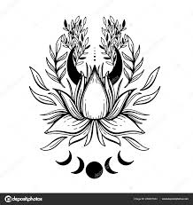Načrtněte Grafický Obrázek Krásné Lotus Znakem Buddhismus Duchovní