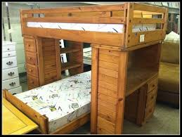 image of wooden bunk bed with desk underneath plans