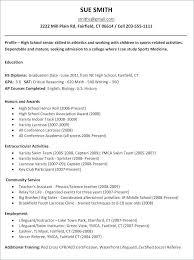 College Resume Examples For High School Seniors Classy Senior Resume Template Colbroco