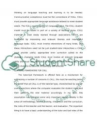 computer assisted language learning essay example topics and  computer assisted language learning essay example