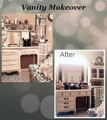 impressive on make up vanity lights diy makeup vanity transformation paint the s black and add a