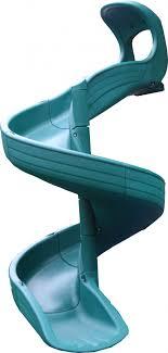 7' Green Open Spiral Slide