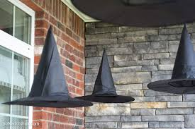 Light Up Witch Hat Diy Floating Witch Hat Luminaries Halloween Porch