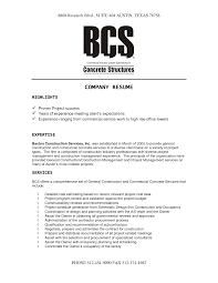 Company Resume Resume Templates