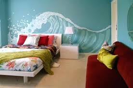 beach theme bedroom furniture. Bedroom, Tropical Themed Bedroom Design For Those Who Love Bright Colors Furniture Beach Theme