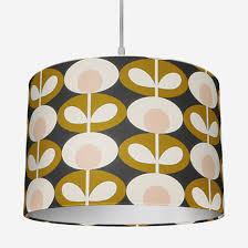orla kiely oval flower seagrass lamp shade