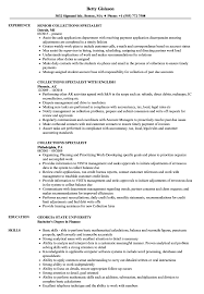 Collection Specialist Resume Collections Specialist Resume Samples Velvet Jobs 10