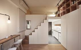 Apartment Small Kitchen Going Vertical Tiny 22 Sqm Apartment Maximizes Space In Style