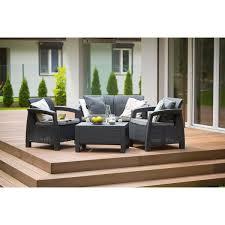 Набор садовой <b>мебели</b> Keter Corfu set полиротанг коричневый ...