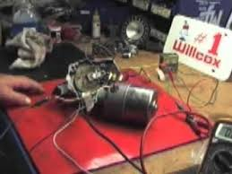 willcox corvette wire testing on a 1968 wiper motor follow up