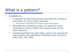 What Is A Pattern Awesome ATE Pattern Structure Basics