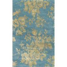 handmade fl blue area rug 8 x free leaf pattern rugs furniture donation