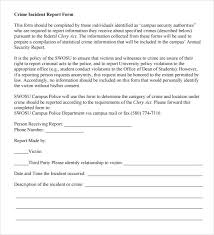 Crime Report Template Inspiration 48 Sample Police Reports Sample Templates