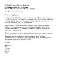 Recommendation Letter For Employee Template Job Reference Letter Template