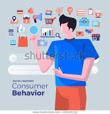 Consumer Behavior Chart Illustrations Flat Design Concept Consumer Behavior Stock