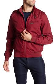 Nordstrom Rack Mens Winter Coats Lyst Members Only Iconic Racer Jacket In Red For Men 82