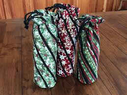 Christmas Quilted Wine Bags, Wine Totes with Stained Glass Motif ... & Christmas Quilted Wine Bags, Wine Totes with Stained Glass Motif, Lined and Insulated  Fabric Wine Carriers Adamdwight.com