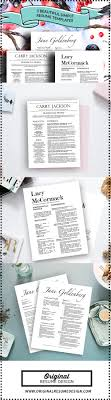 3 Beautiful Resume Designs With Matching Cover Letters For